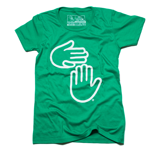 Women's Michigan Hands Tee (Kelly)