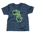 Michigan Hands Youth Tee (Deep Water Blue)