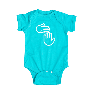 Michigan Hands Onesie (Leland Blue)