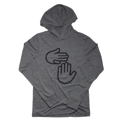 Michigan Hands Lightweight Hoodie (Grey)