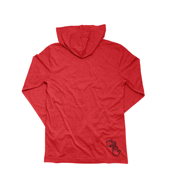 Michigan Hands Lightweight Hoodie (Red)
