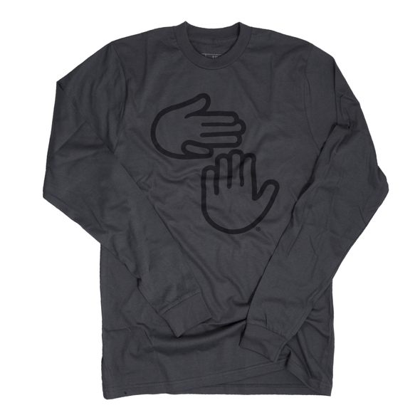 Michigan Hands Long Sleeve (Asphalt)