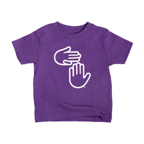 Michigan Hands Toddler Tee (Purple)