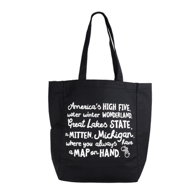 Map on Hand Canvas Tote