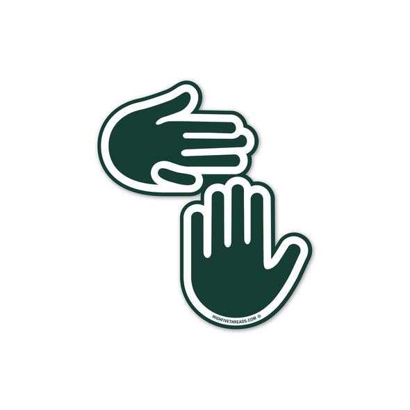 Michigan Hands Sticker (Green and White)