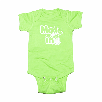 Made in Michigan Onesie (Key Lime)