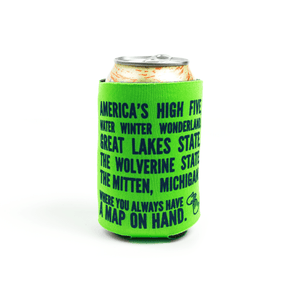 Map on Hand Koozie