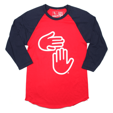 'Merica Michigan Hands Raglan