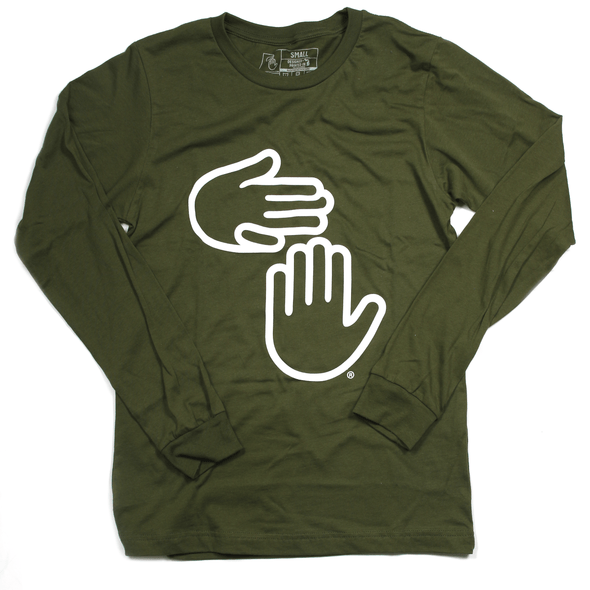 Michigan Hands Long Sleeve (Olive)