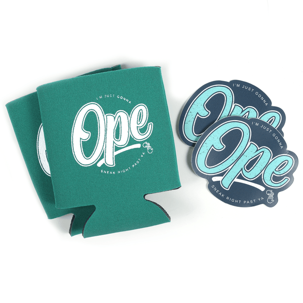 Ope Sticker and Can Hugger Bundle