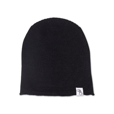 Oversized Knit Beanie (Black)