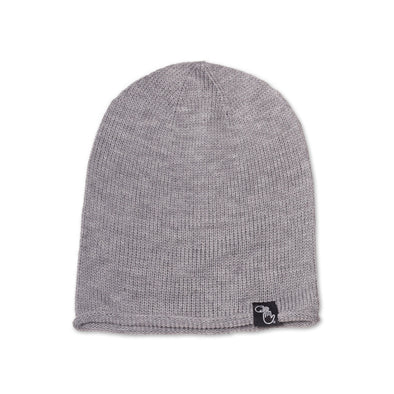 Oversized Knit Beanie (Grey)
