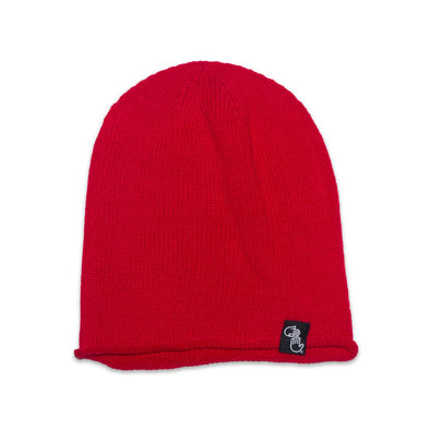 Oversized Knit Beanie (Red)