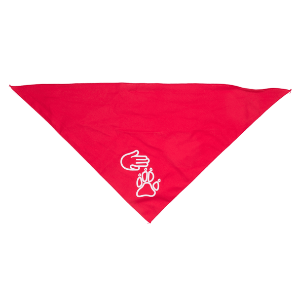 High Five Paw Bandana (Red)