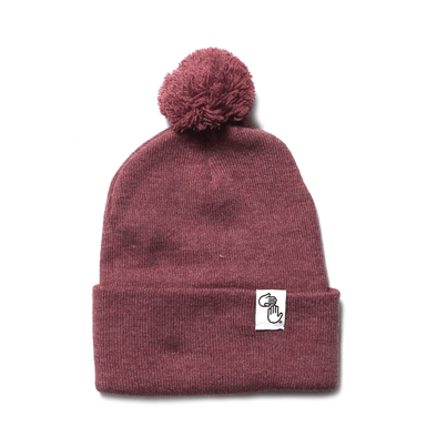 Pom Beanie (Heather Red)