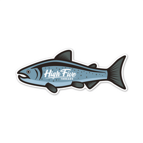 Salmon High Five Threads Sticker