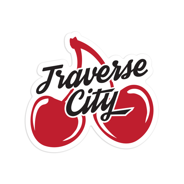 Traverse City Cherries Sticker