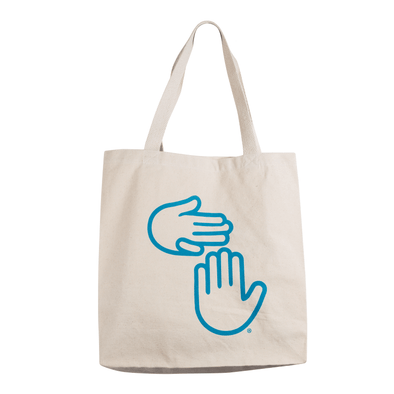 High Five Logo Tote (Teal)