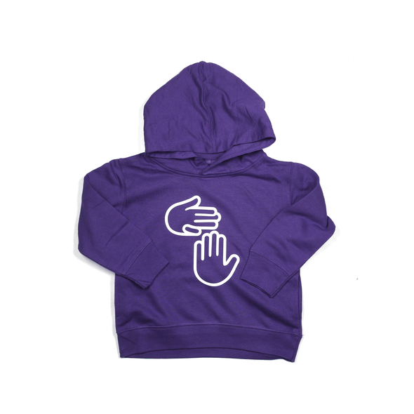 Michigan Hands Toddler Hoodie (Purple)