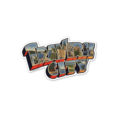 Vintage Traverse City Sticker