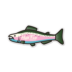 Rainbow Trout High Five Threads Sticker