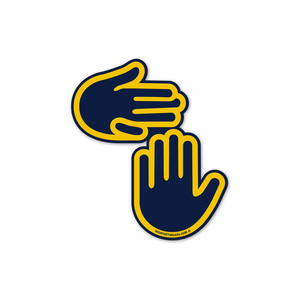 Michigan Hands Sticker (Maize and Blue)
