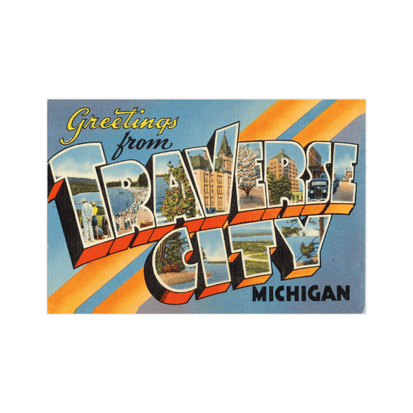 Vintage Traverse City Postcard