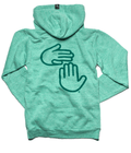 Michigan Hands Vintage Zip Hoodie (Green)