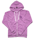 Michigan Hands Vintage Zip Hoodie (Purple)