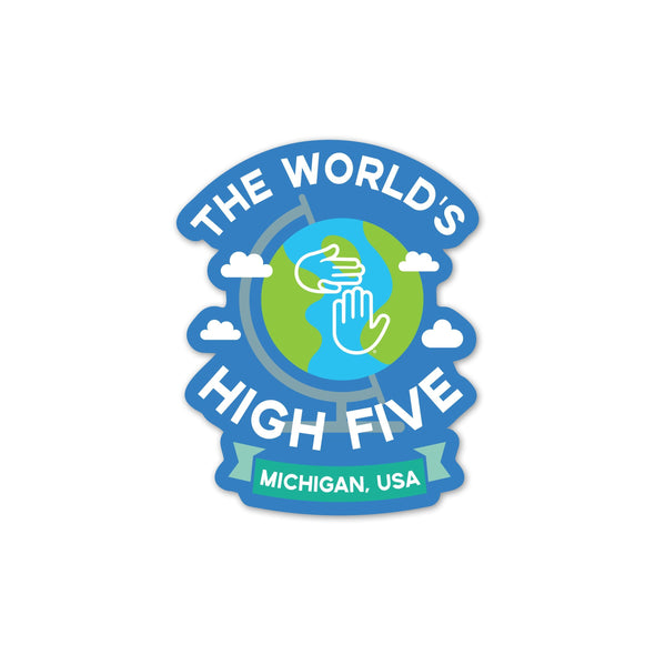 Worlds High Five Sticker