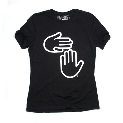 Women's Michigan Hands Tee (Heather Black)