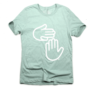 Women's Michigan Hands Tee (Dusty Mint)