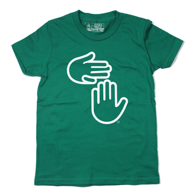Michigan Hands Youth Tee (Kelly Green)