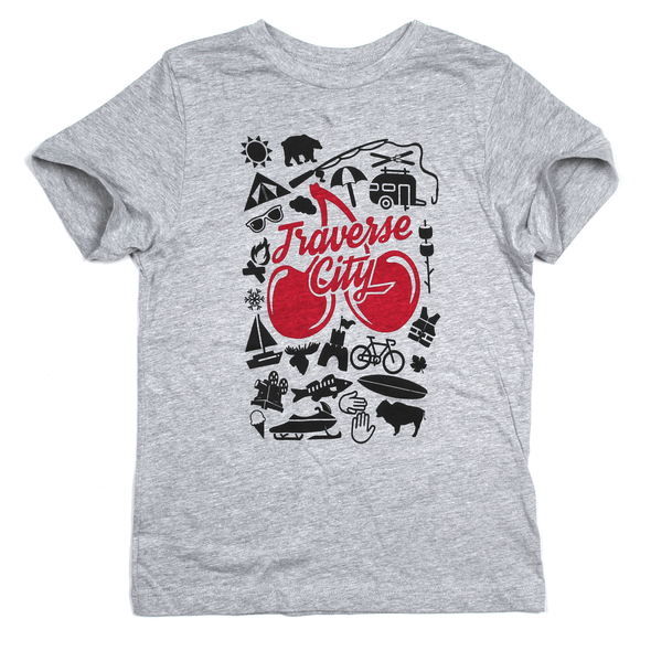 Traverse City: More Than Just Cherries Youth Tee