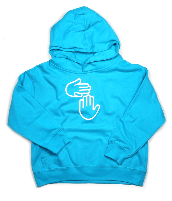 Michigan Hands Youth Hoodie (Lake Blue)