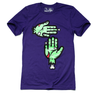 Zombie Hands Tee (Purple)