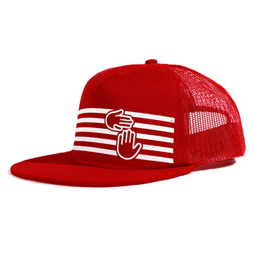 Stripes Trucker (Red)