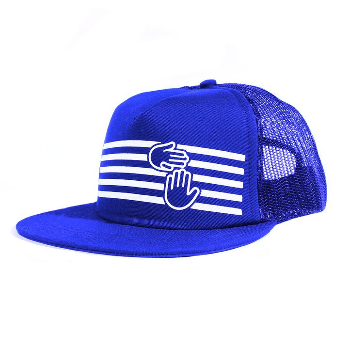 Stripes Trucker (Royal Blue)