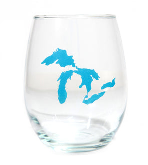 Great Lakes Wine Glass (Blue)