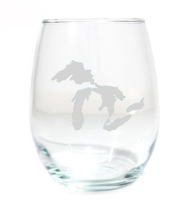 Great Lakes Wine Glass (Frosted)