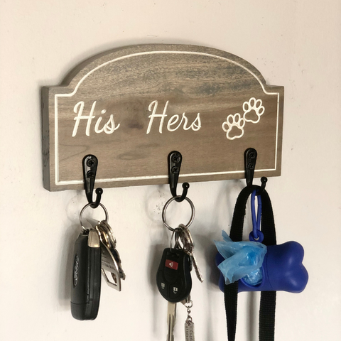 Farmhouse Style Dog Bowl Stand - 2 Bowl | Raised Pet Feeder | Elevated Dog Bowl