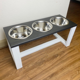 Dog Bowl Stand - 3 Bowl | Raised Pet Feeder | Elevated Dog Bowl