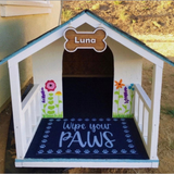 Rustic Dog Bowl Stand - 2 Bowl | Raised Pet Feeder | Elevated Dog Bowl