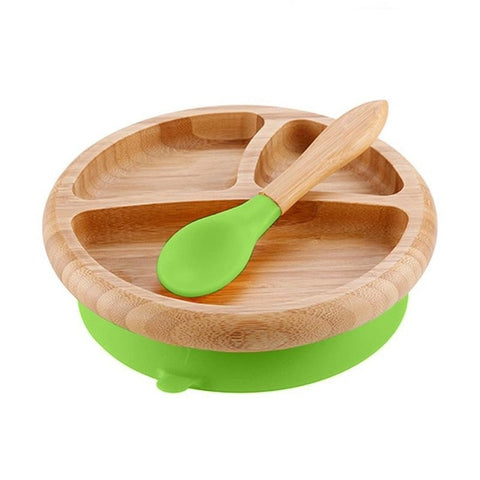 Wooden Plate With Suction Cup
