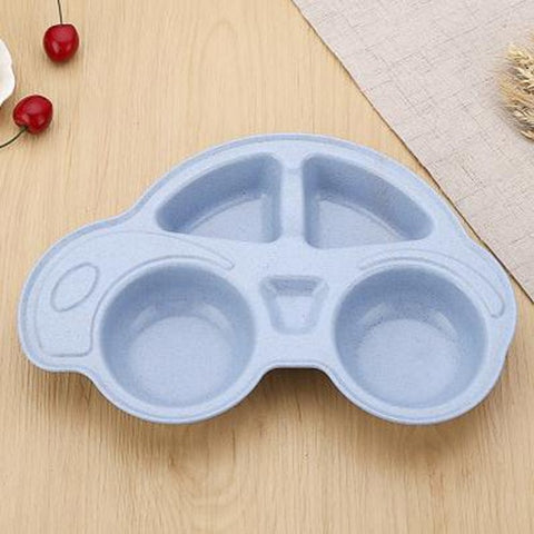 Car Bamboo and Wheat Fibre Baby Plate