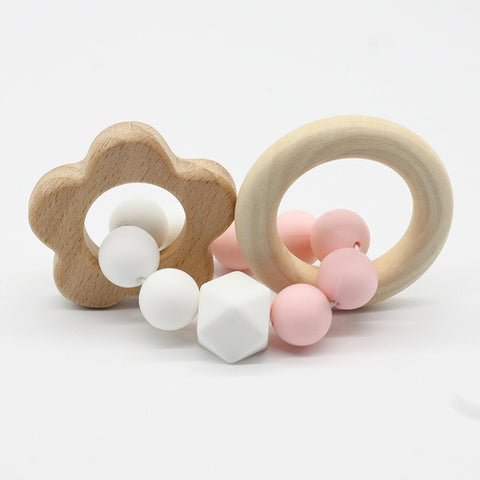 Wooden Animal Teething Bracelet