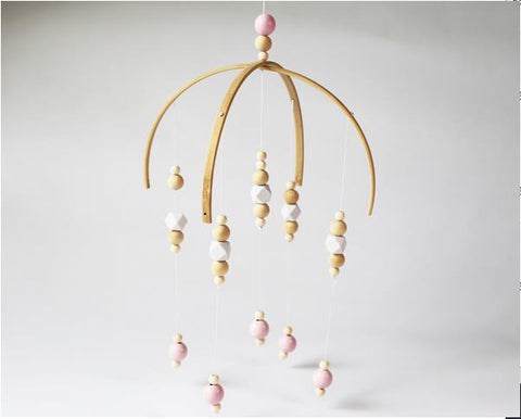 Nordic Style Wooden Bead Mobile