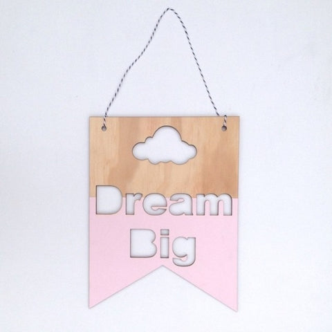 Slogan Wooden Wall Hanging Ornaments