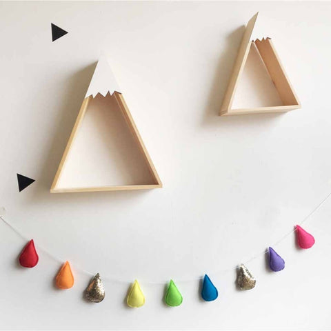 Felt Raindrops Wall Garland