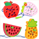 Educational Wooden Threading Fruit